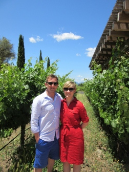 Us in a vineyard