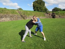 Wrestleing at the amphitheatre like the Romans used to do