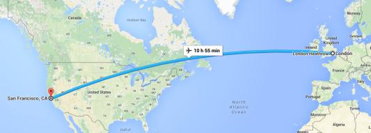 London to San Fransisco