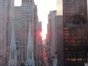 Sun set down 5th Avenue