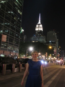 Me looking happy about the Empire State buidling