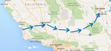 Map las vegas