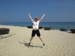 On the beach at An Bang