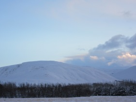 A large snowy hill