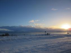 Snow on the way to A large Geyser Þingvellir National Park