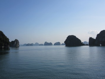 Halong at sunset