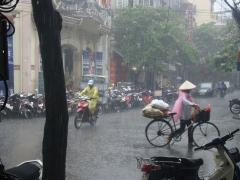 Rain doesn't stop Hanoi