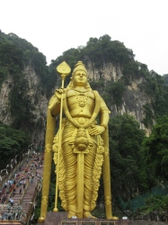 Lord Murugan at the Batu Caves