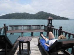 Pankor Island from the balcony