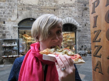 The best pizza ever in San Gimignano