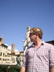 Neil and Neptune in Piazza della Signoria