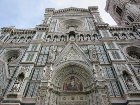 Entrance to The Cathedral of Florence
