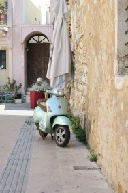 Vespa in Old town of Rethymnon