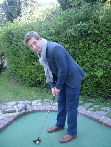 Neil playing crazy golf