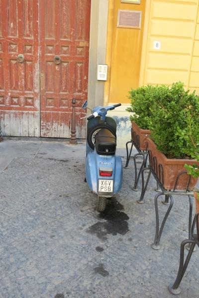 A fancy moped in Sorrento