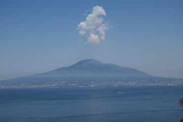 Mount Vesuvius with a cloud